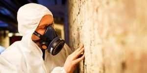 Asbestos surveyor during a refurbishment survey