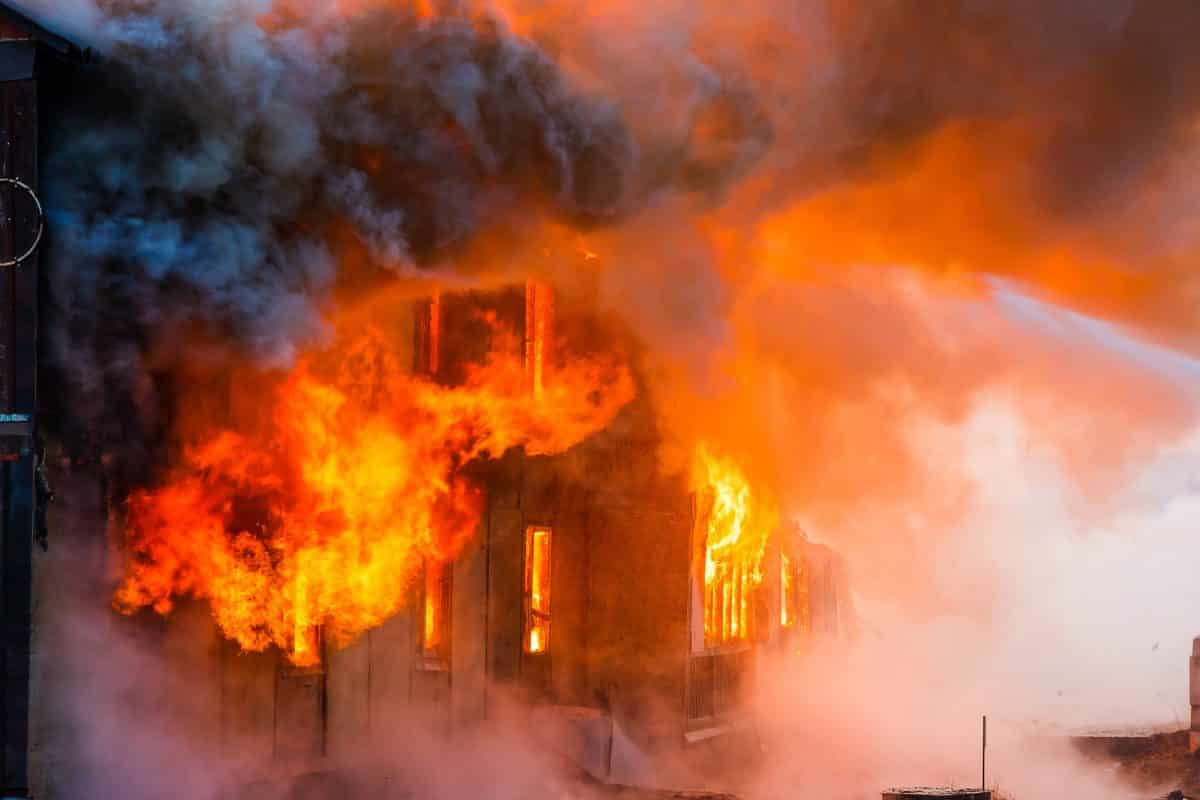 asbestos fire