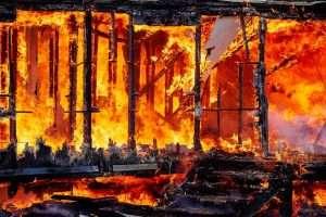 asbestos in fire