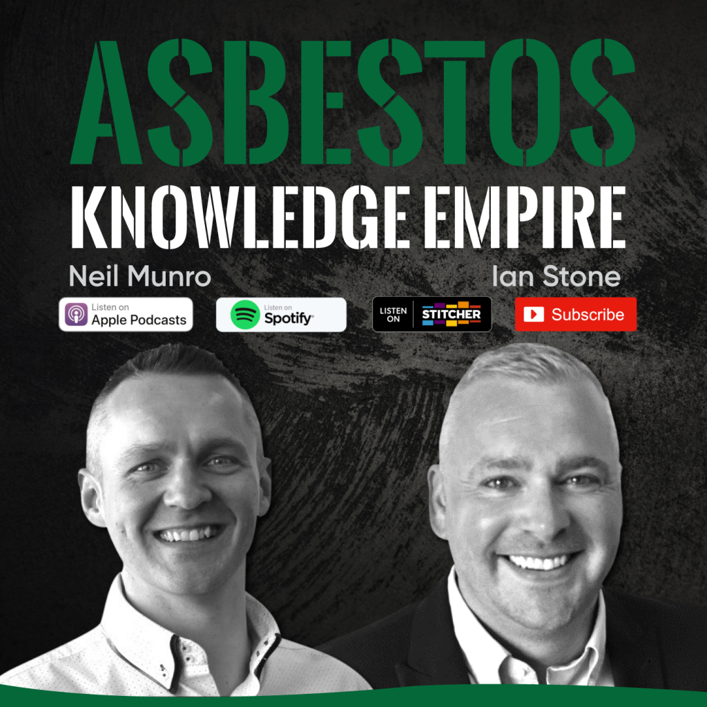 Asbestos Podcast with download logos