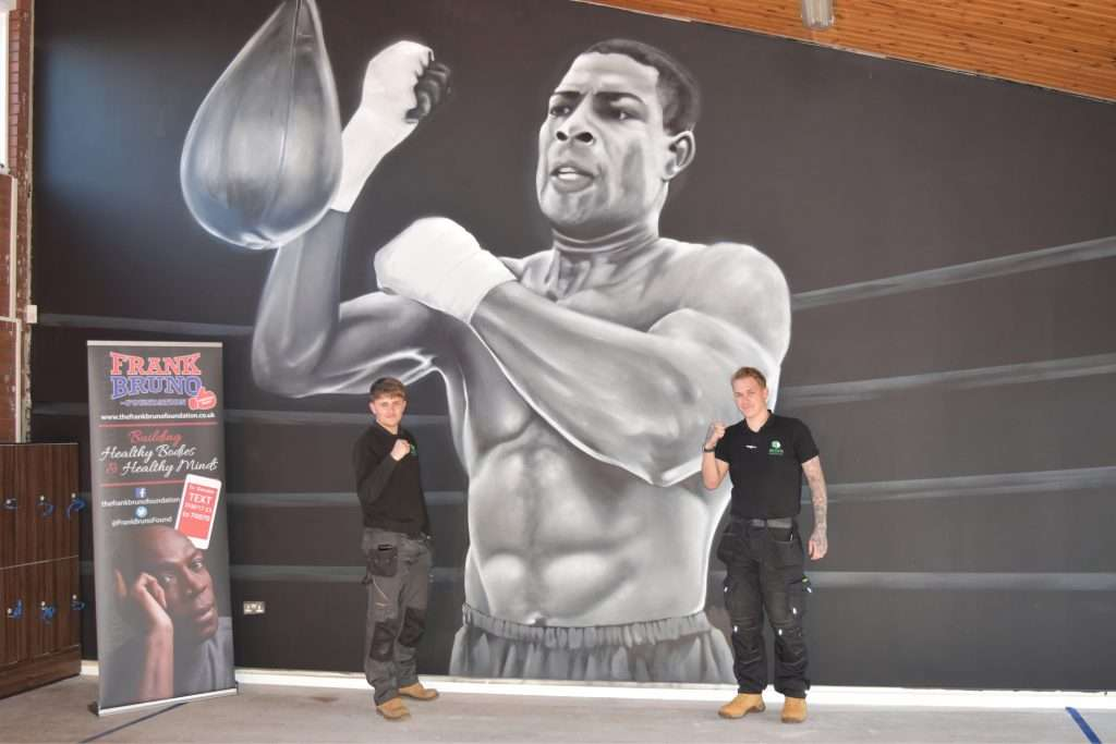 Acorn Analytical Services asbestos surveyors Joseph Bell & Daniel Crask at the Frank Bruno Foundation Centre