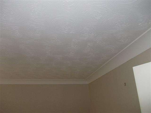 Asbestos Textured Coating to bedroom ceiling