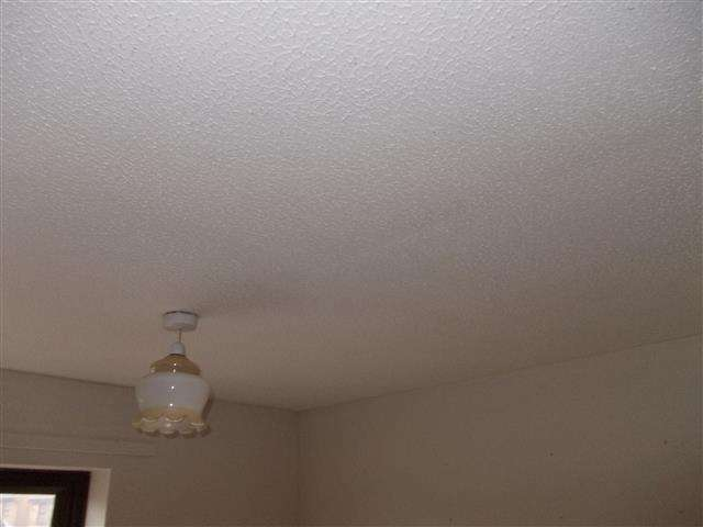 Asbestos Textured Coating to lounge ceiling
