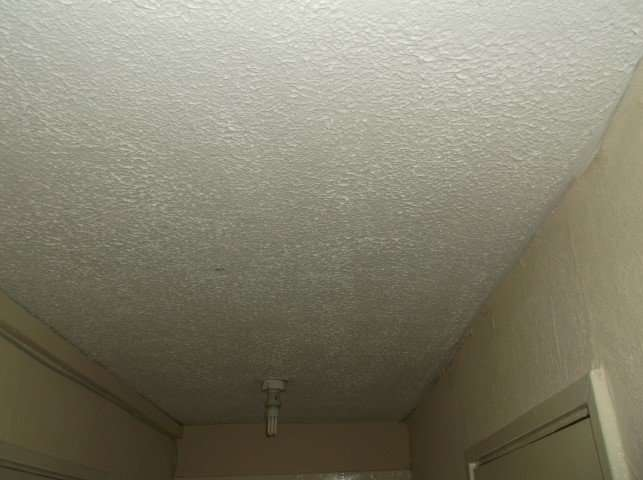 Asbestos Textured coating to hallway ceiling