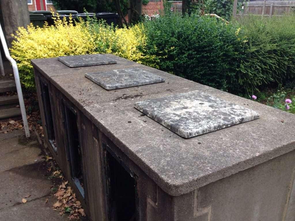 Asbestos cement bin store vent cover