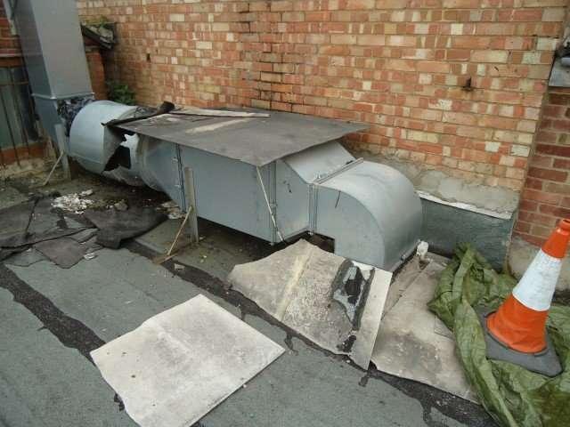Asbestos cement broken on roof