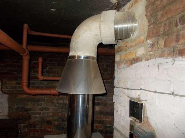 Asbestos cement flue corner pipe