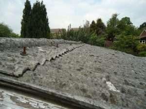 Asbestos cement garage roof