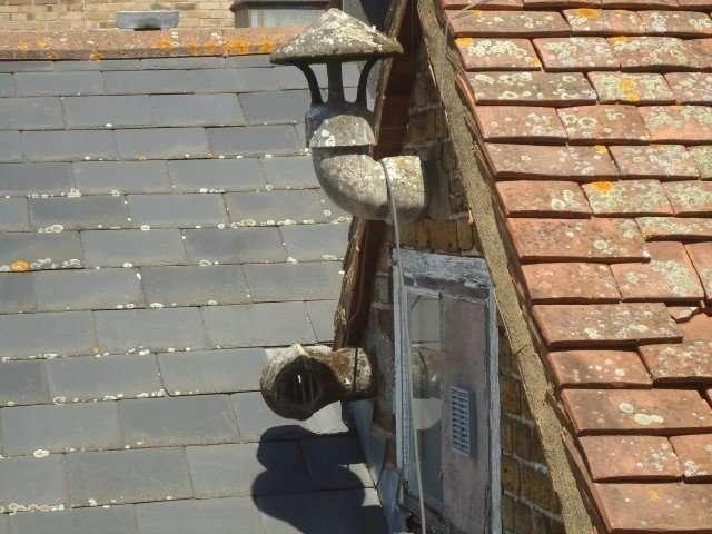 Asbestos cement pipe and flue cap