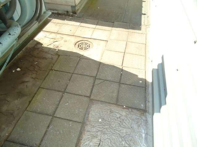 Asbestos cement promenade tiles