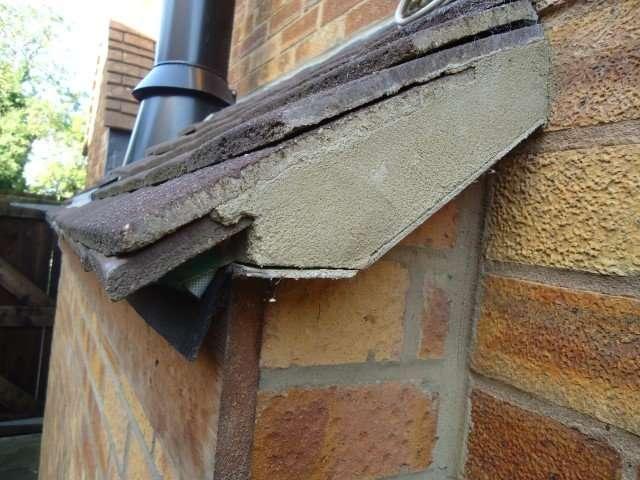 Asbestos cement under roof tiles