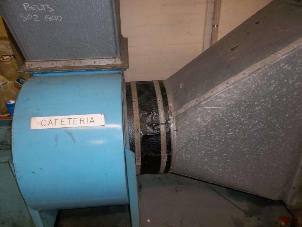 Asbestos felt bitumen wrap to duct