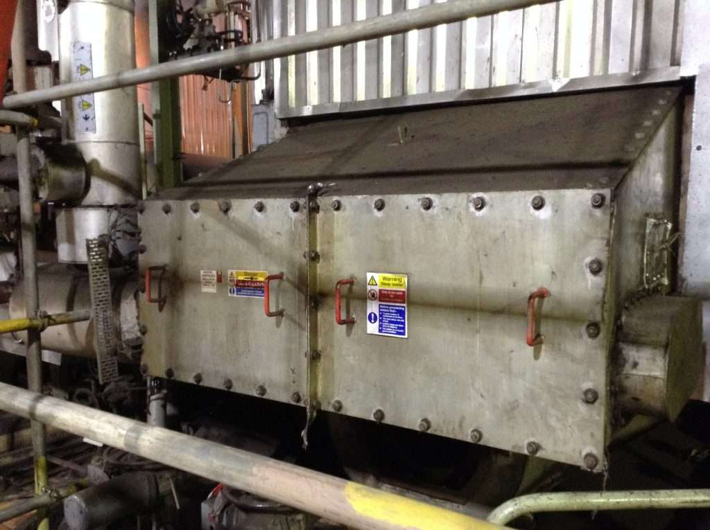 Asbestos gaskets to large plant machinery