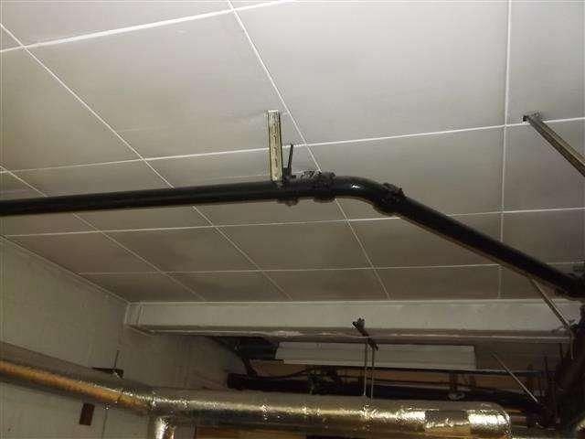 Asbestos insulating board ceiling tiles