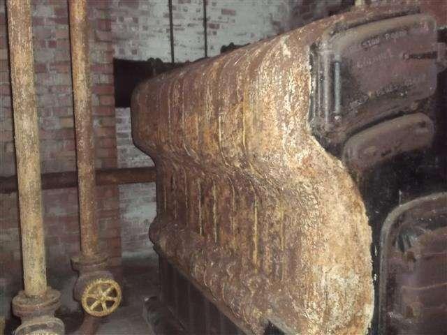 Asbestos residue to Robin Hood boiler