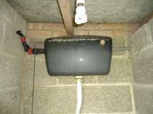 Asbestos resin toilet cistern