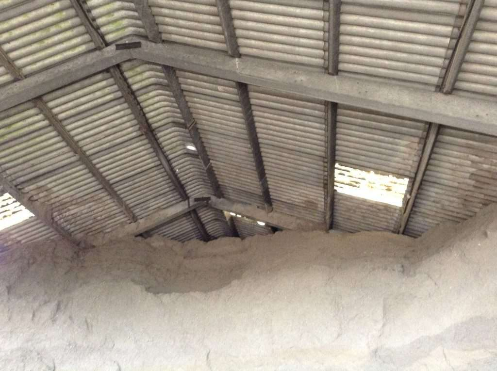Asbestos roof to farm barn