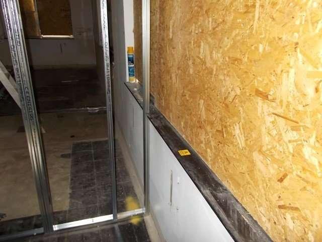Black asbestos window sills
