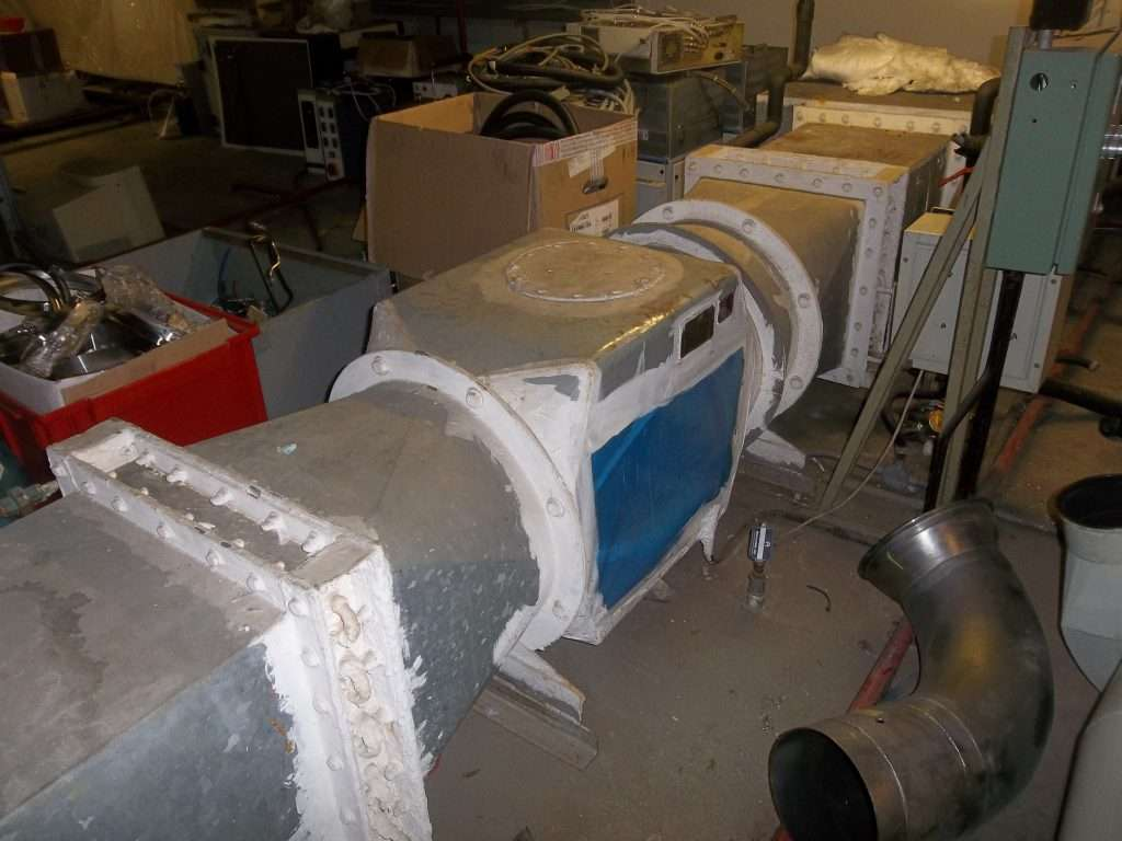 Encapsulated asbestos gaskets to large duct
