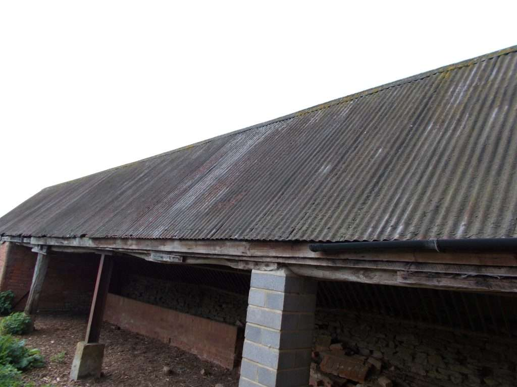 Galbestos roof to barn