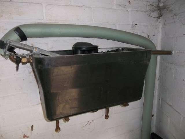 Redundant asbestos resin toilet cistern