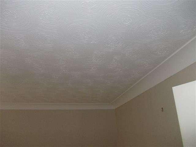Asbestos Textured Coating to bedroom ceiling