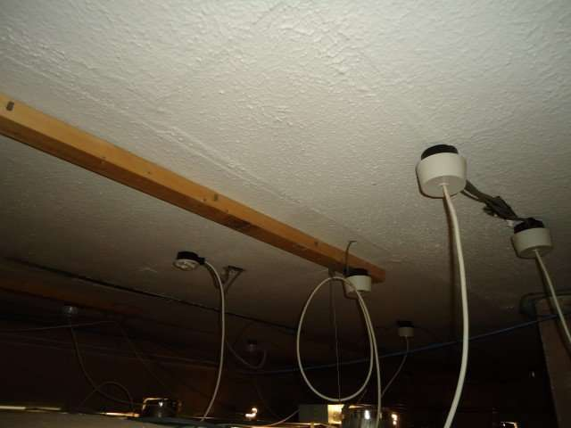 Asbestos textured coating to original ceiling