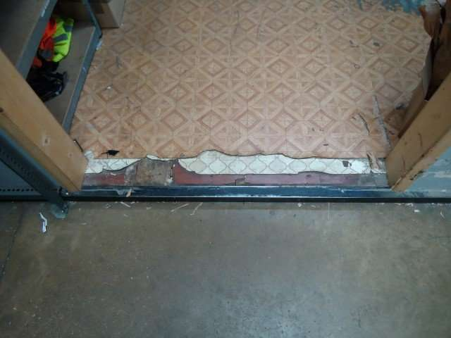 Various asbestos floor covering layers