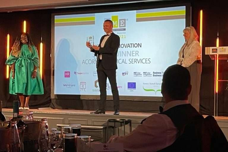 Neil Munro at SME Northamptonshire Business Awards cropped